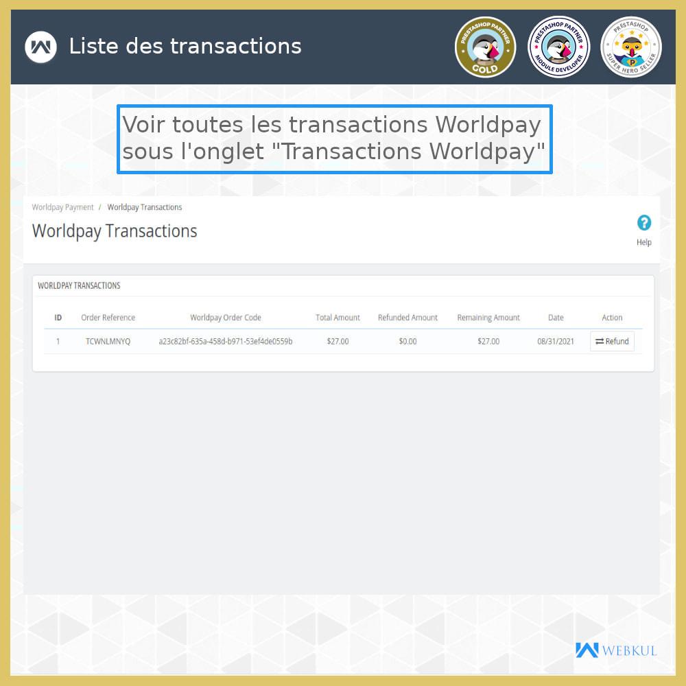 module - Paiement par Carte ou Wallet - Passerelle de Paiement Worldpay - 5