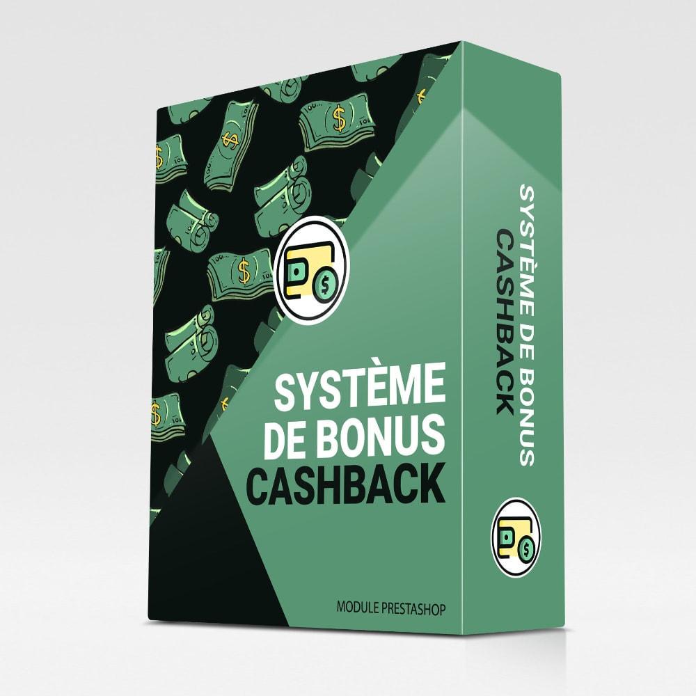 module - Fidélisation & Parrainage - Système de bonus cashback - 1
