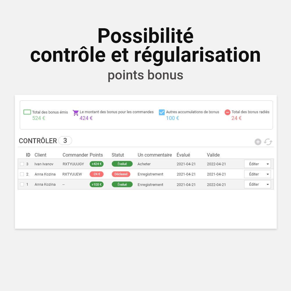 module - Fidélisation & Parrainage - Système de bonus cashback - 6