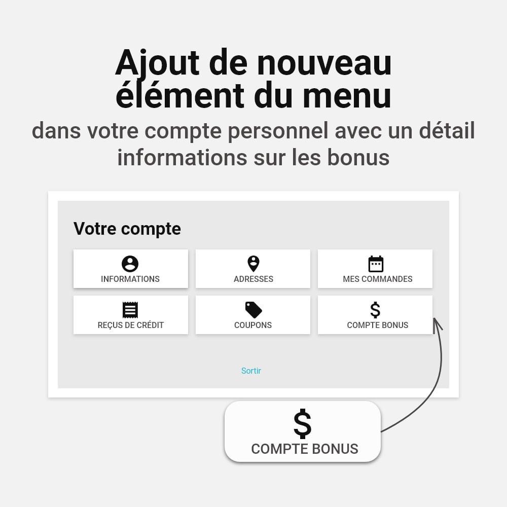 module - Fidélisation & Parrainage - Système de bonus cashback - 13
