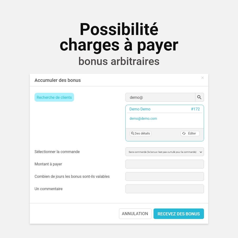 module - Fidélisation & Parrainage - Système de bonus cashback - 18