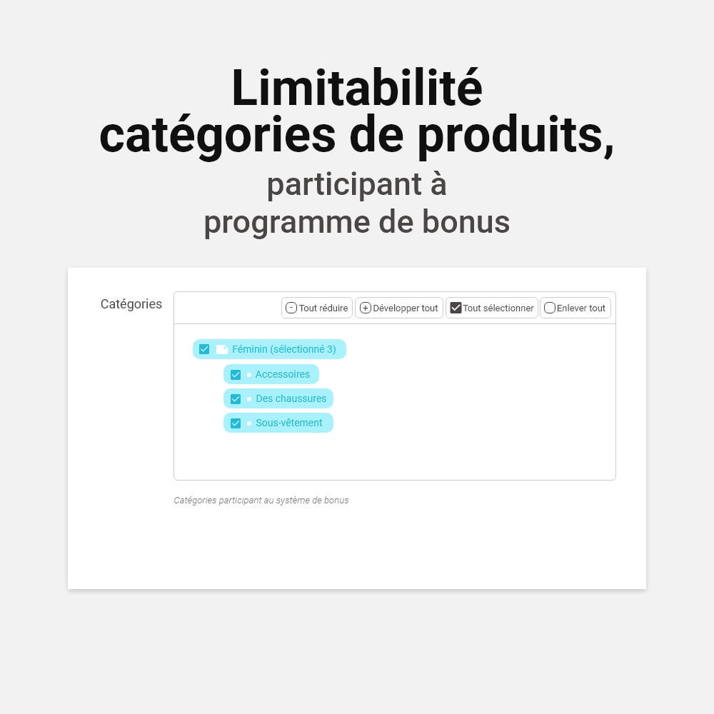 module - Fidélisation & Parrainage - Système de bonus cashback - 19