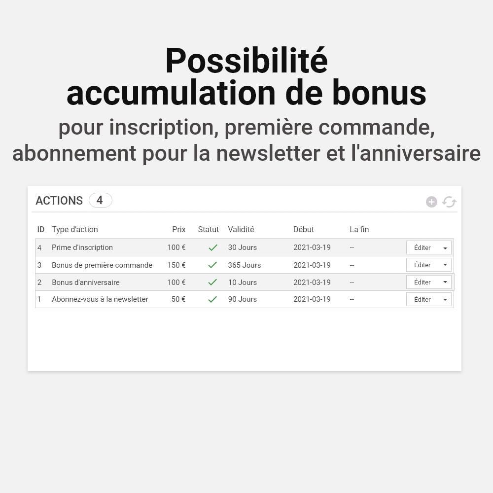 module - Fidélisation & Parrainage - Système de bonus cashback - 20