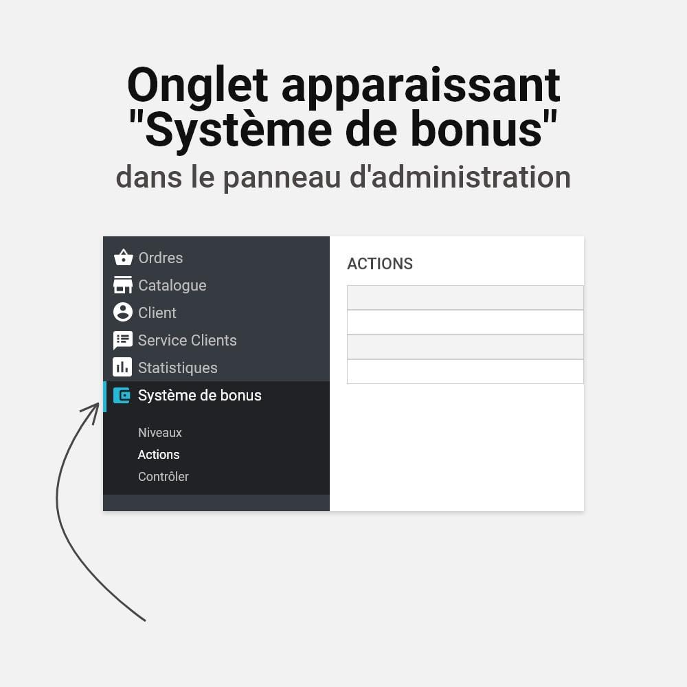module - Fidélisation & Parrainage - Système de bonus cashback - 21