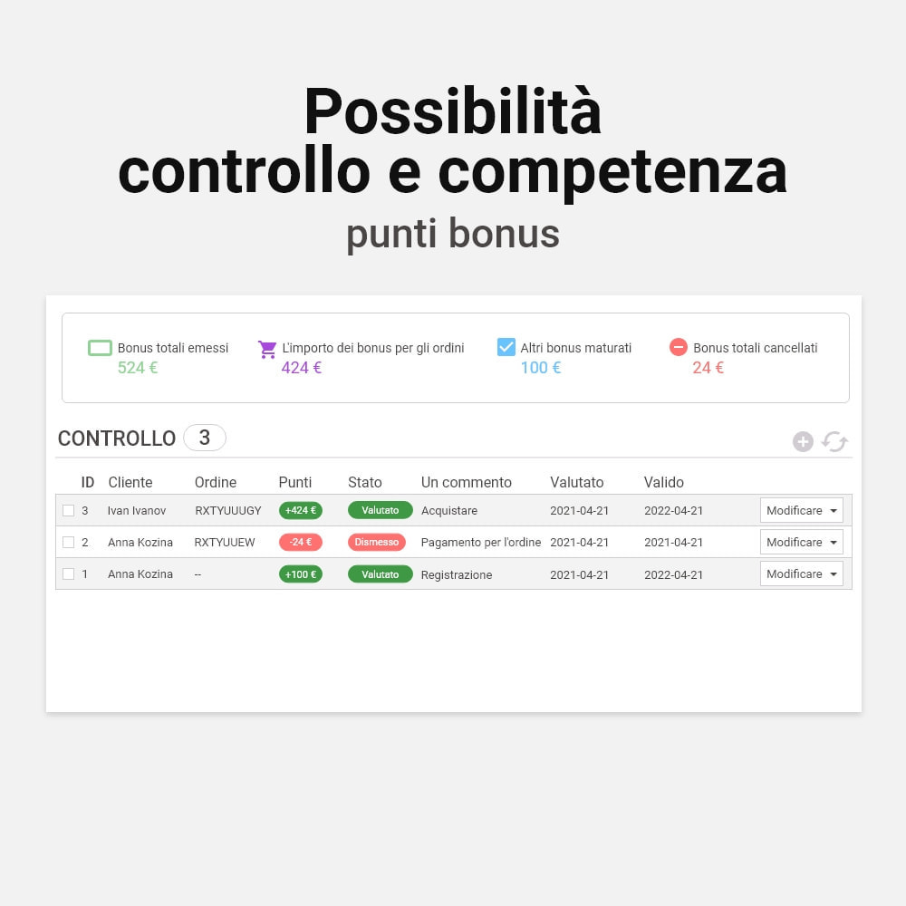 module - Programmi fedeltà & Affiliazione - Sistema bonus cashback - 6
