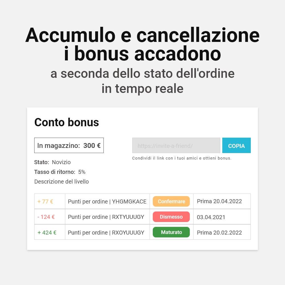 module - Programmi fedeltà & Affiliazione - Sistema bonus cashback - 13
