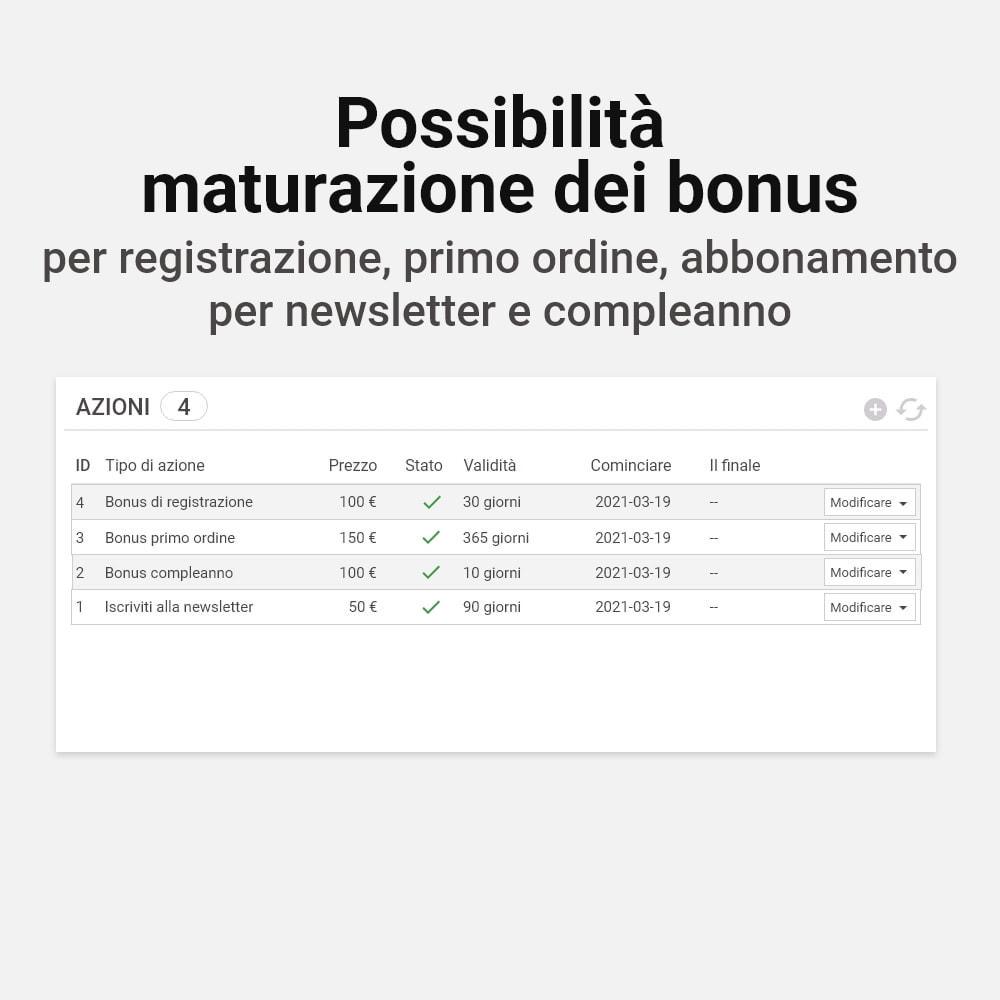 module - Programmi fedeltà & Affiliazione - Sistema bonus cashback - 16