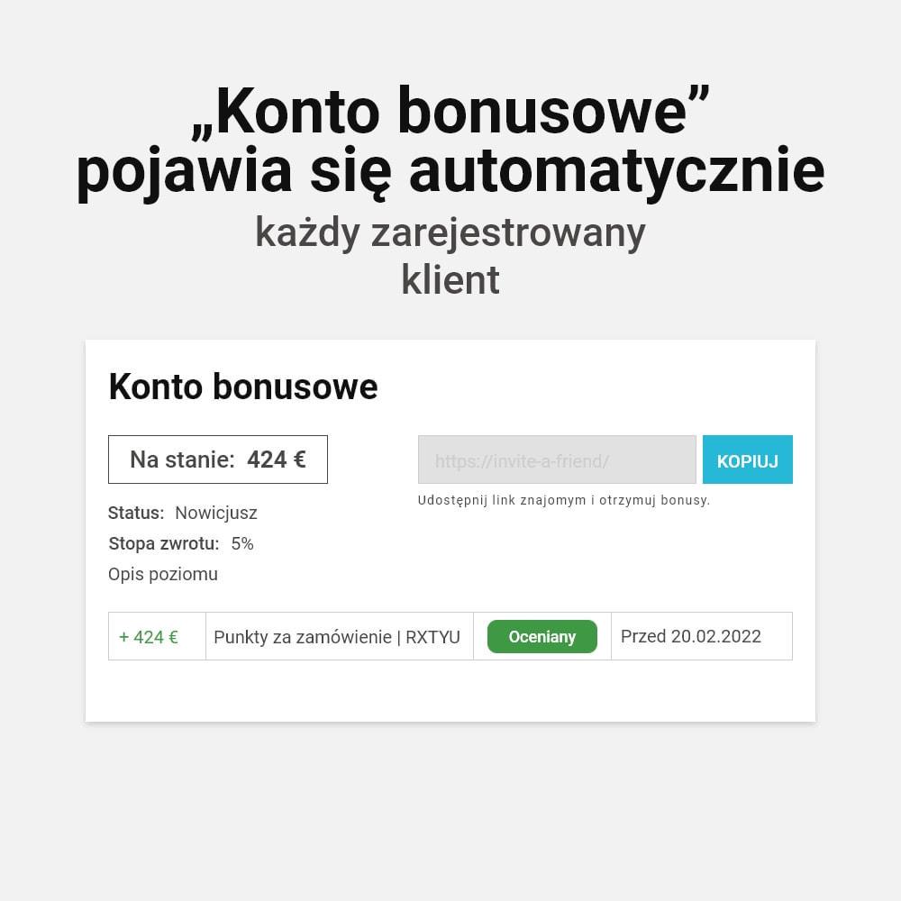 module - Lojalność & Rekomendowanie - System bonusów cashback - 2