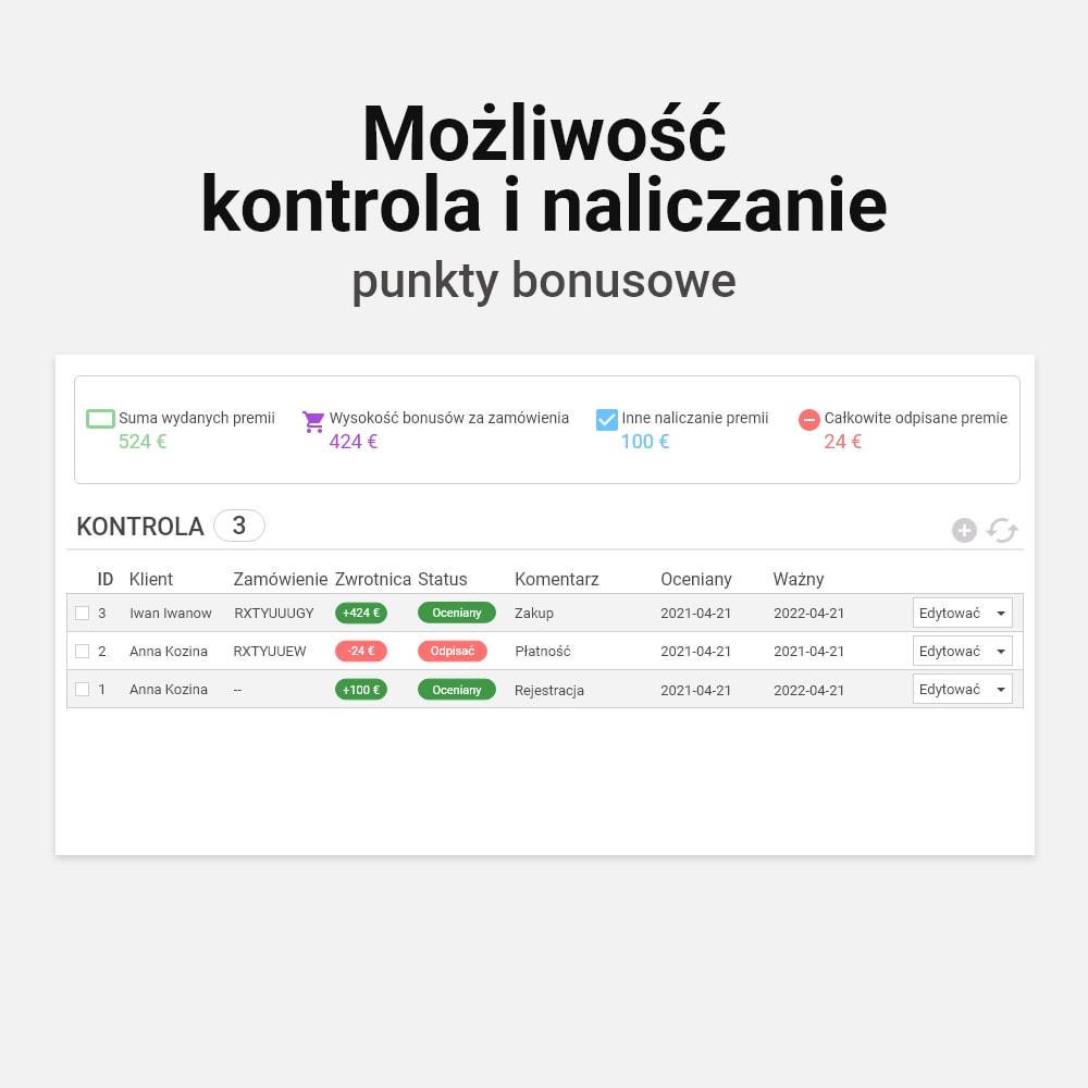 module - Lojalność & Rekomendowanie - System bonusów cashback - 6
