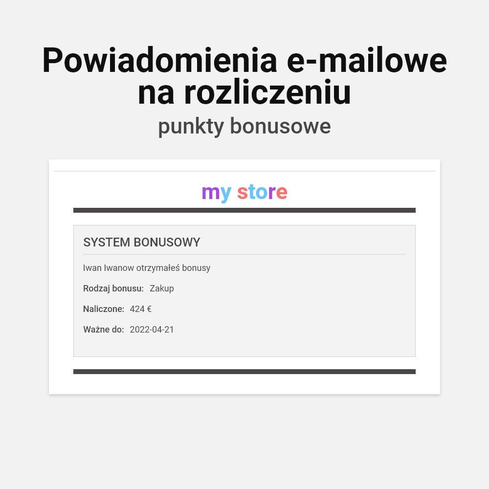 module - Lojalność & Rekomendowanie - System bonusów cashback - 7