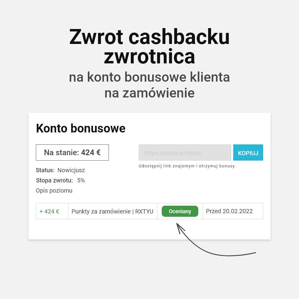 module - Lojalność & Rekomendowanie - System bonusów cashback - 8