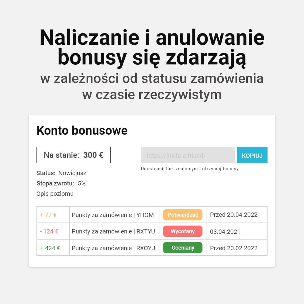 module - Lojalność & Rekomendowanie - System bonusów cashback - 13