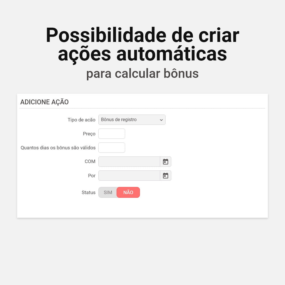 module - Fidelização & Apadrinhamento - Sistema de cashback bônus - 5