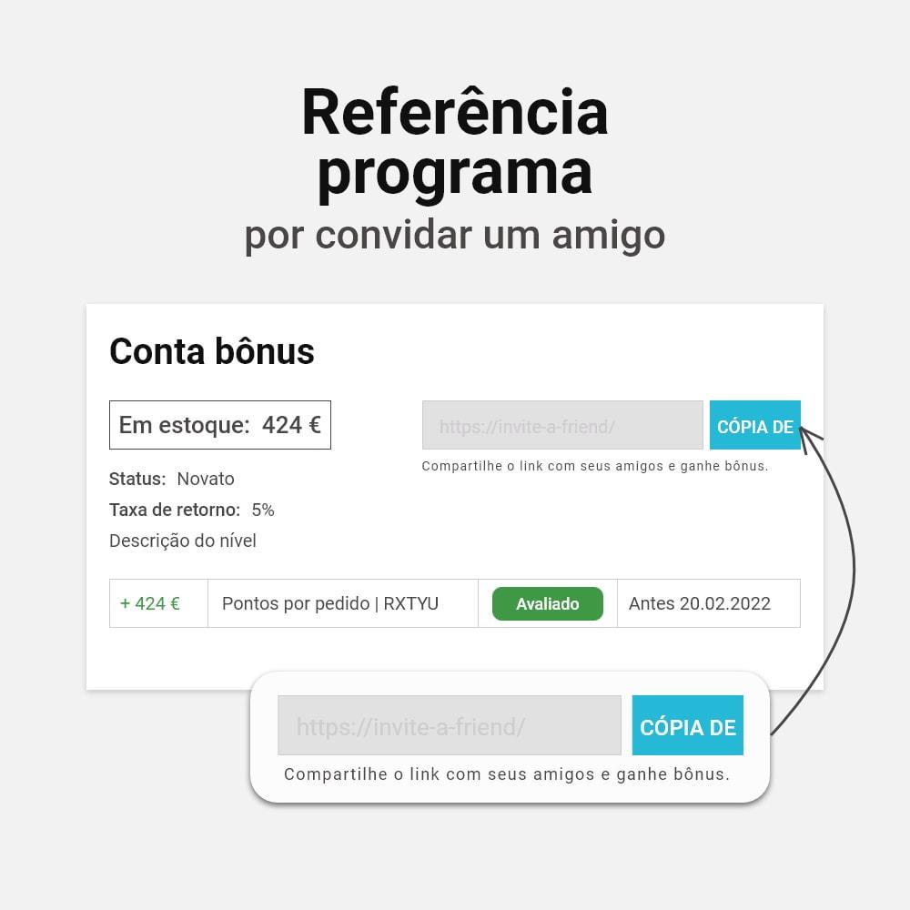 module - Fidelização & Apadrinhamento - Sistema de cashback bônus - 10