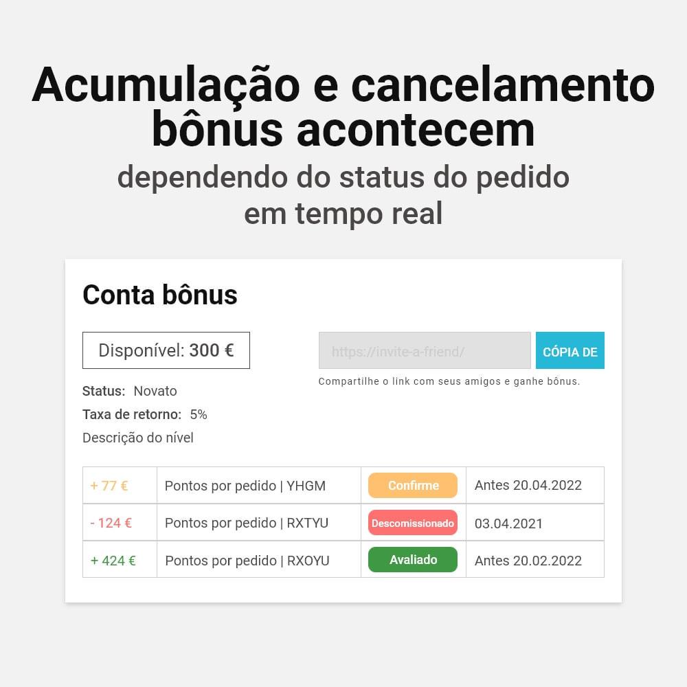 module - Fidelização & Apadrinhamento - Sistema de cashback bônus - 13