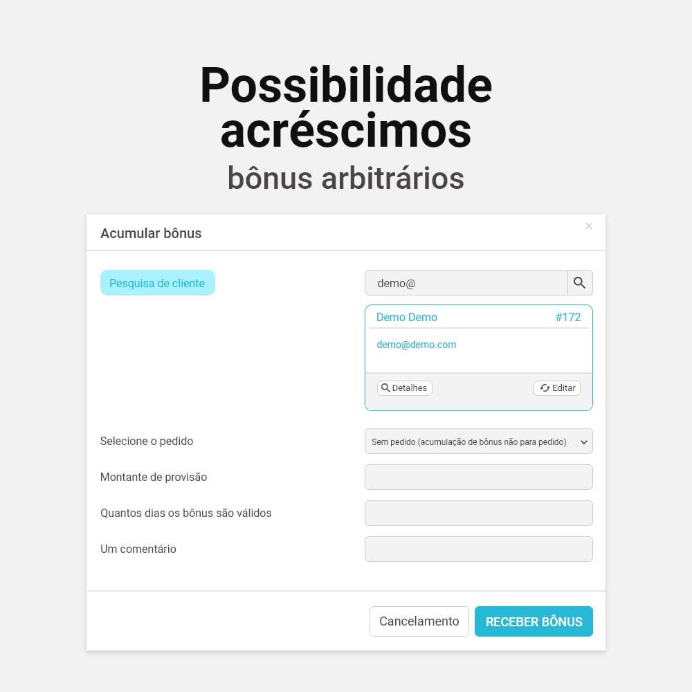 module - Fidelização & Apadrinhamento - Sistema de cashback bônus - 14
