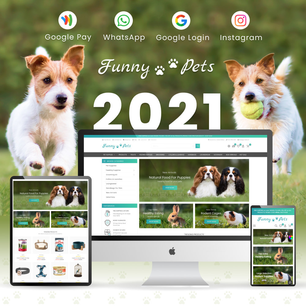 theme - Zwierzęta - Animals & Food - Pets Care, Clothes, Toys - 1