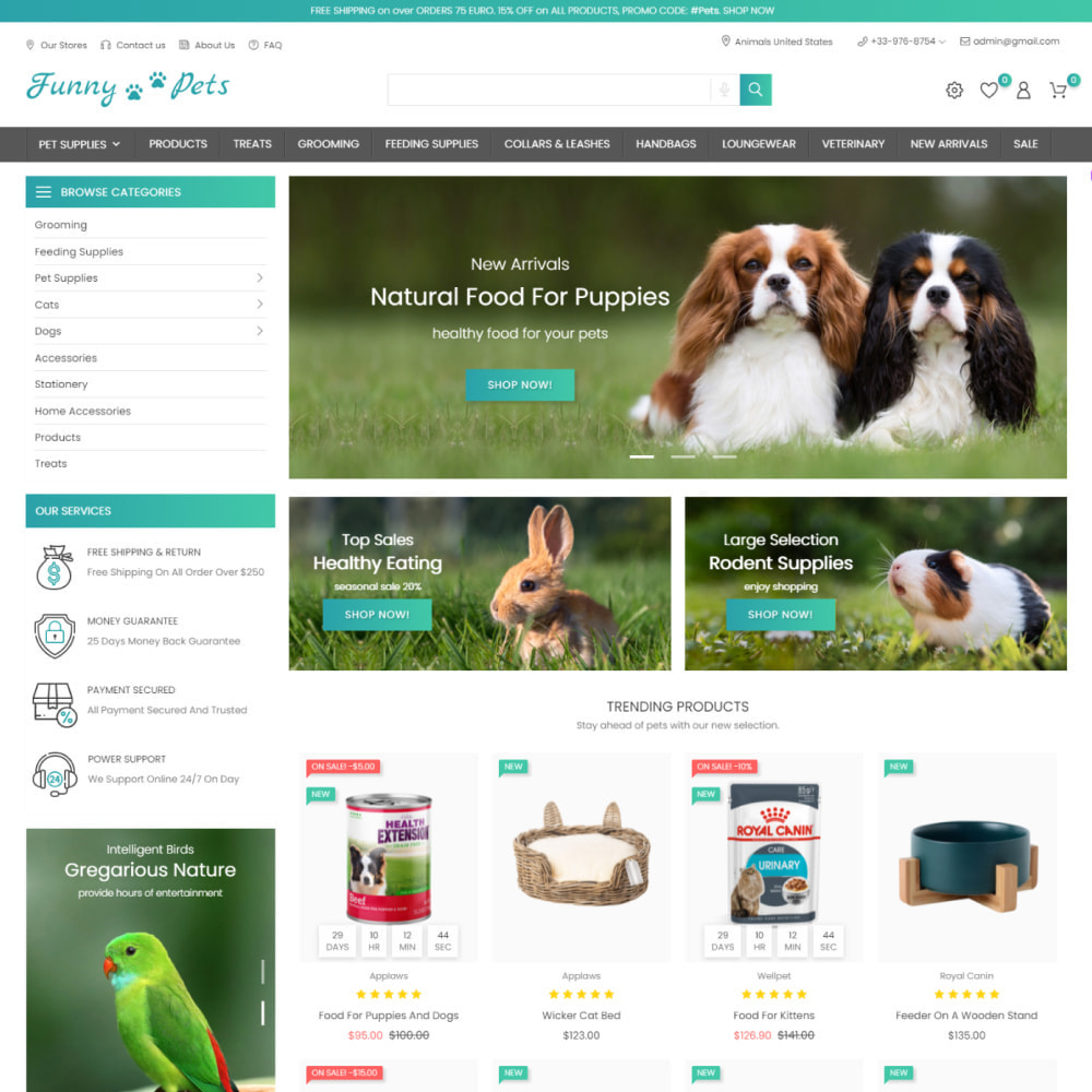 theme - Zwierzęta - Animals & Food - Pets Care, Clothes, Toys - 2