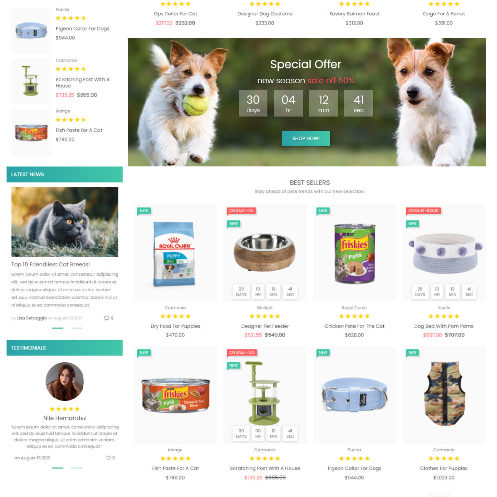 theme - Zwierzęta - Animals & Food - Pets Care, Clothes, Toys - 3
