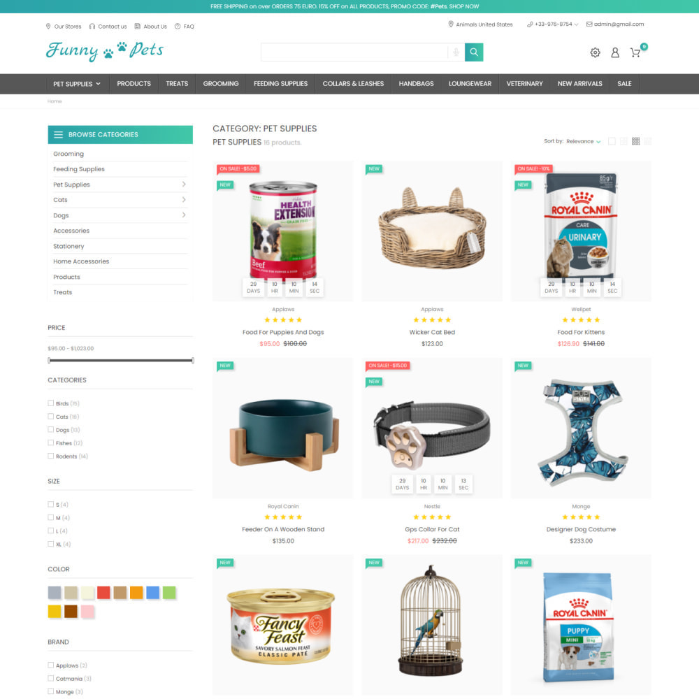 theme - Zwierzęta - Animals & Food - Pets Care, Clothes, Toys - 4