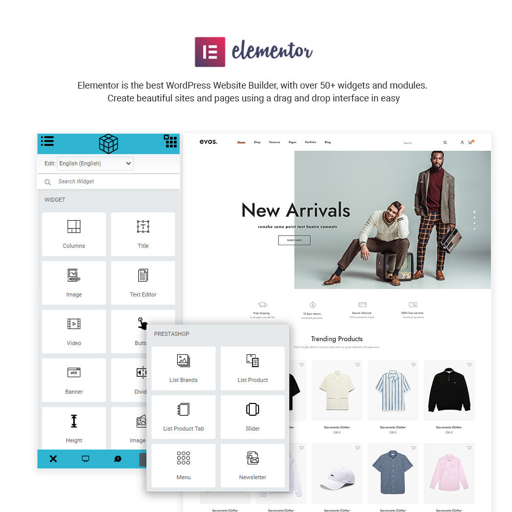 theme - Fashion & Shoes - Evo Elementor - Fashion Store - 2