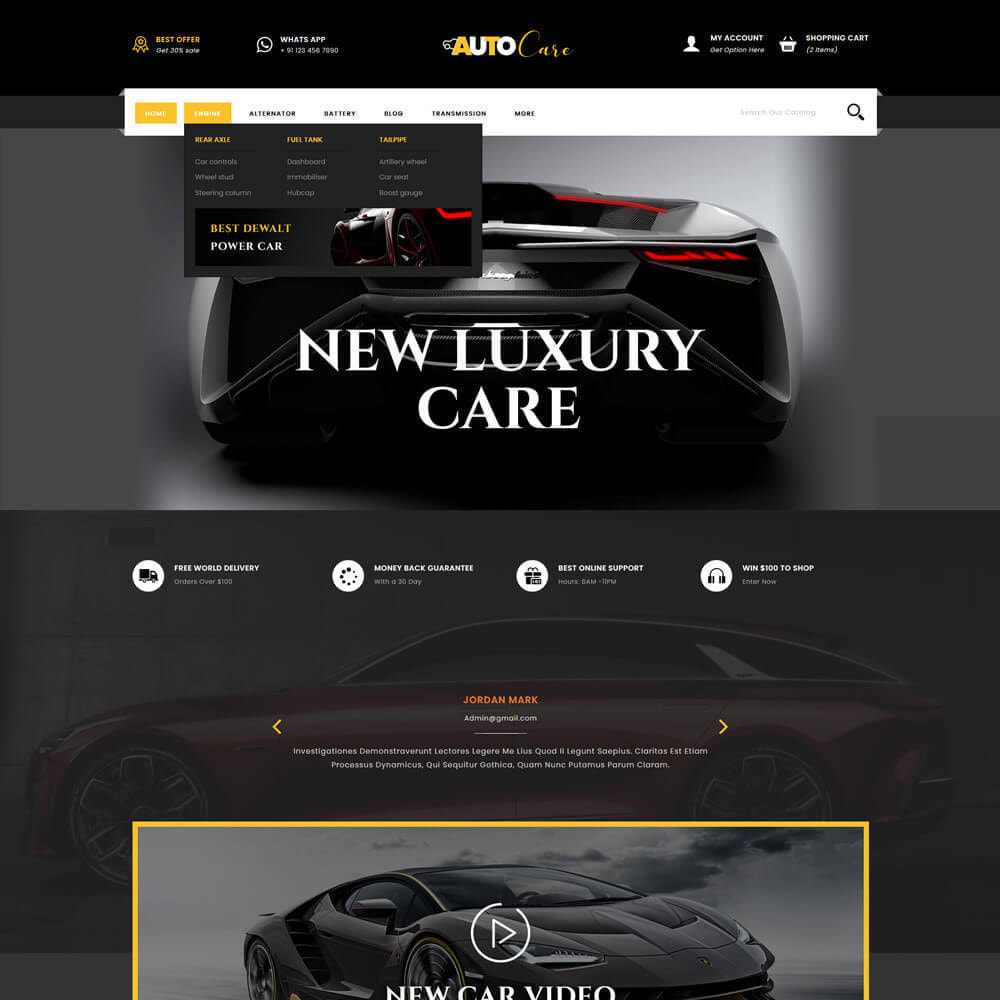 theme - Coches y Motos - Autocare - Auto Store - 3