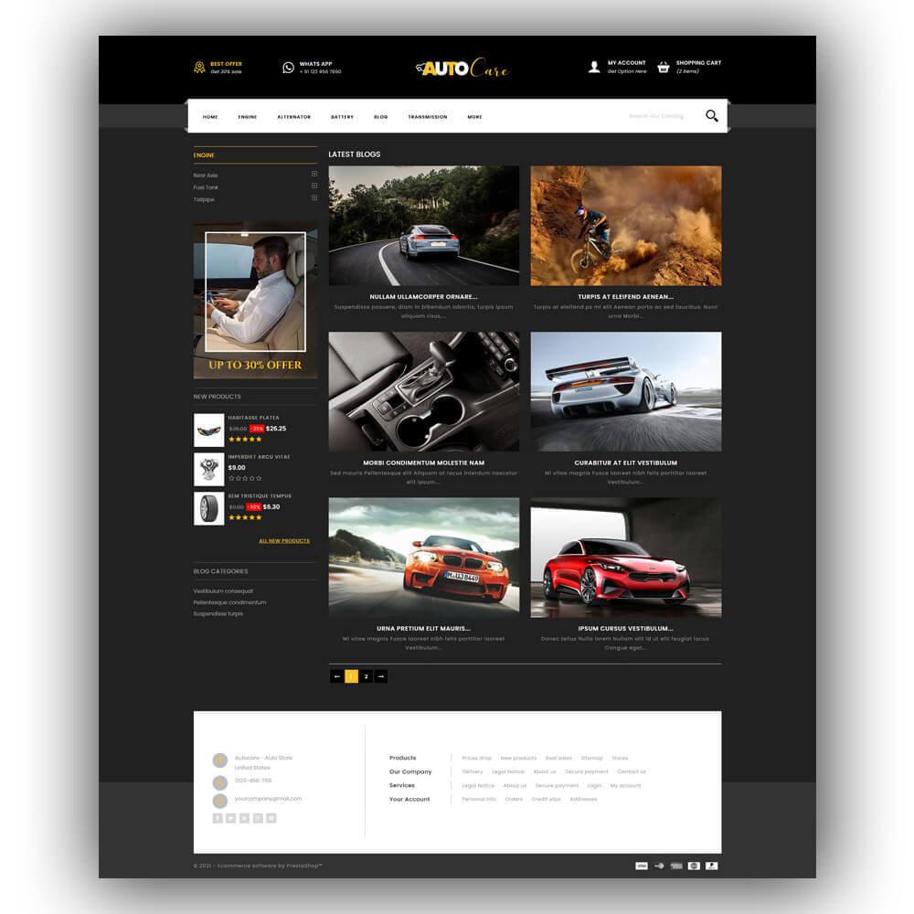 theme - Coches y Motos - Autocare - Auto Store - 8