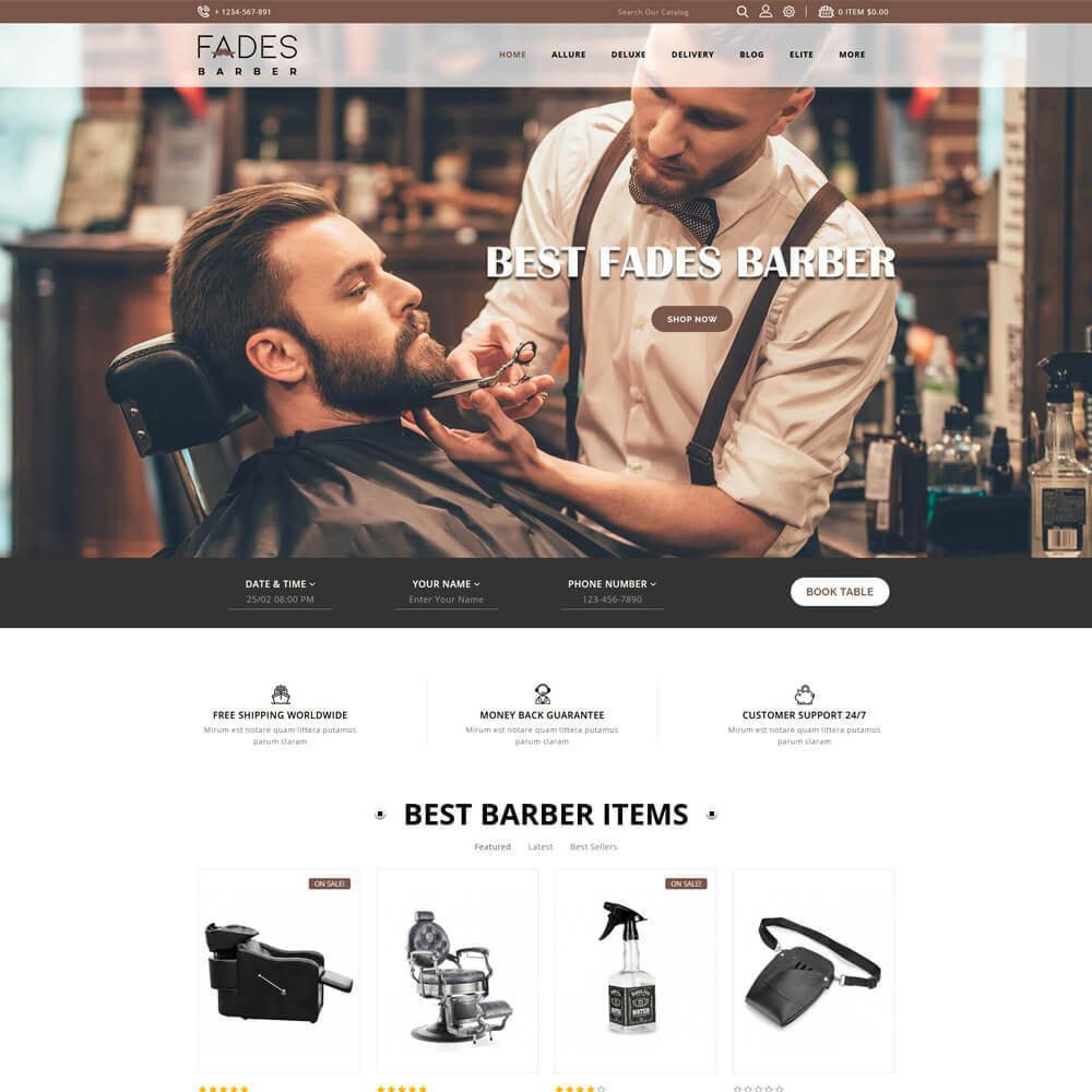 theme - Health & Beauty - Fades - Salon Store - 2
