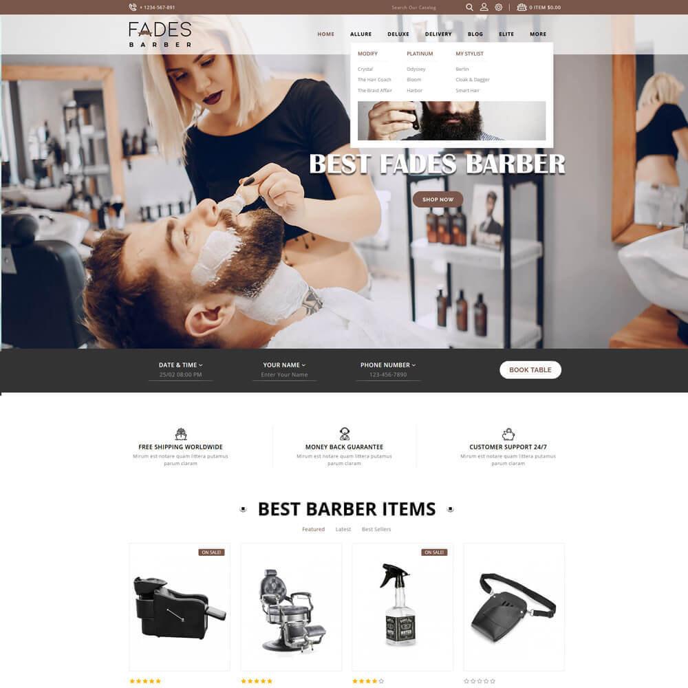 theme - Health & Beauty - Fades - Salon Store - 3