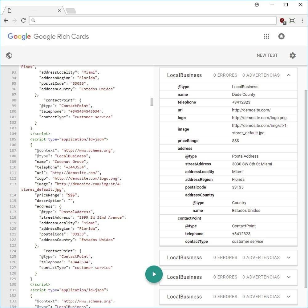 module - SEO (Posicionamiento en buscadores) - Google Rich Snippets (Cards) LD + JSON + Twitter - 4