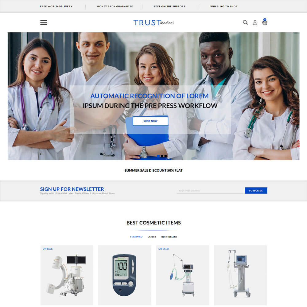 theme - Health & Beauty - Trust - Medical Store - 2