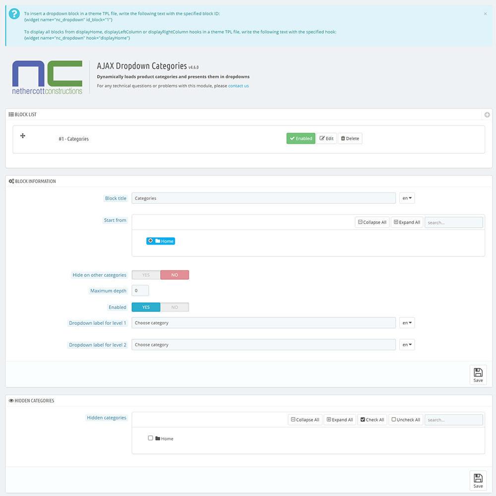 module - Ricerche & Filtri - AJAX Dropdown Categories - 2