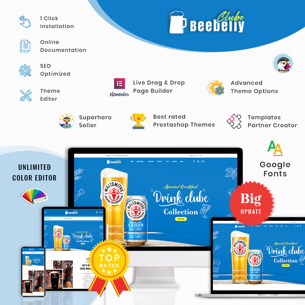 theme - Drink & Wine - Beebelly Wine and Beer - Liquor Store - 1