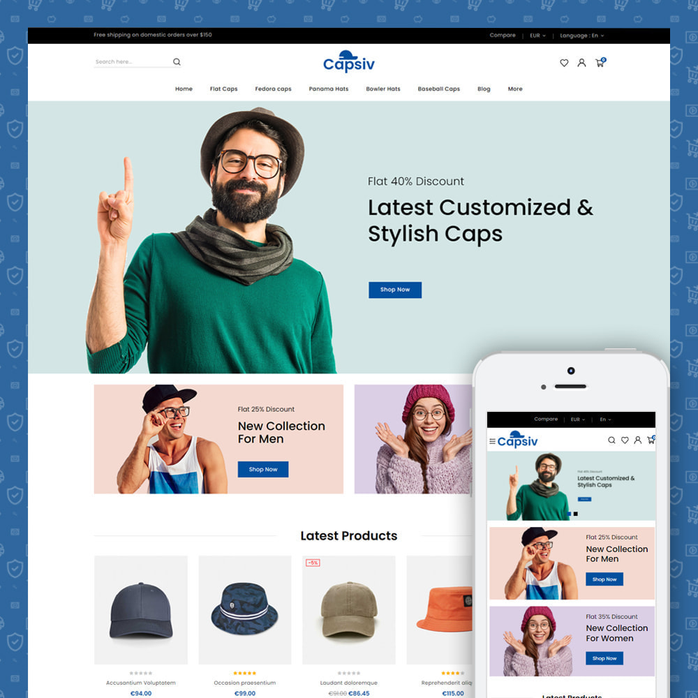 theme - Fashion & Shoes - Capsiv - Caps & Hats Store - 1
