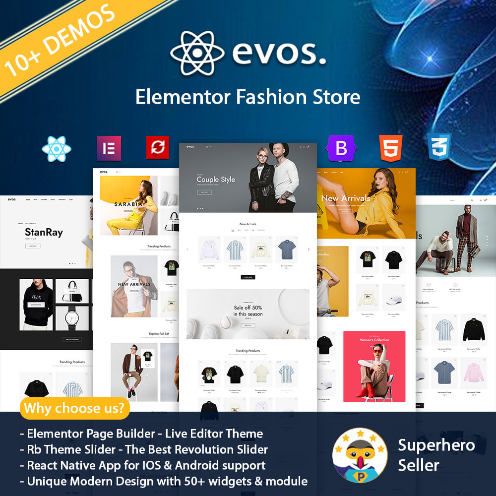 theme - Fashion & Shoes - Evo Elementor - Fashion Store - 1