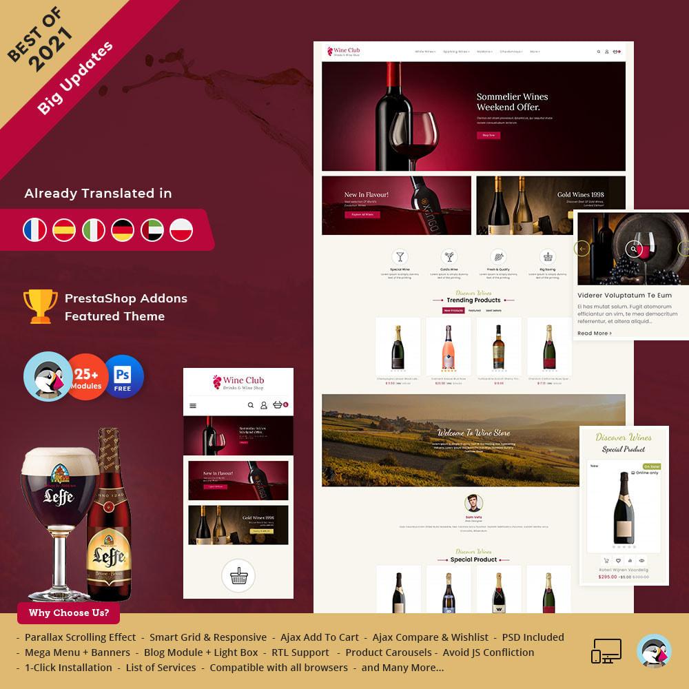 theme - Bebidas & Tabaco - Wine Club - Drink & Tobacco Store - 2