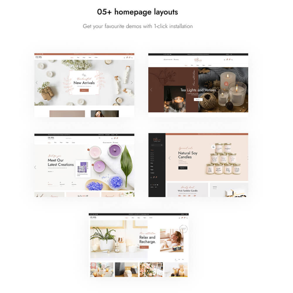 theme - Gifts, Flowers & Celebrations - Leo Olars - Candles And Handmade Shop - 3