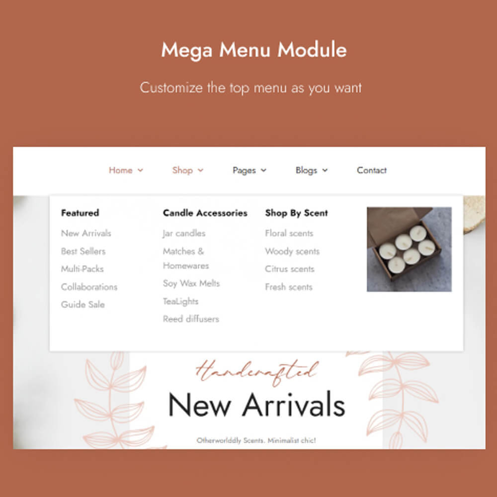 theme - Gifts, Flowers & Celebrations - Leo Olars - Candles And Handmade Shop - 5