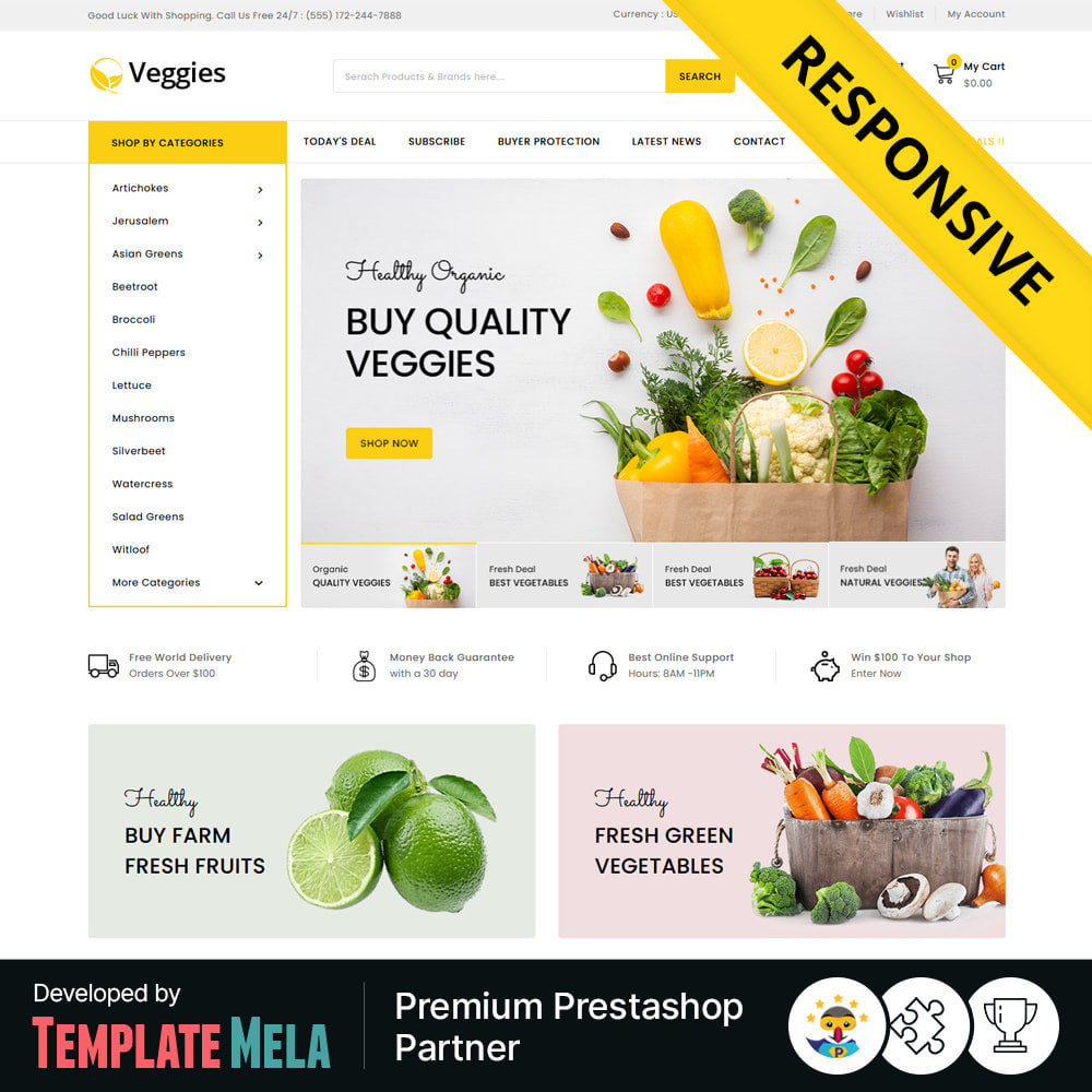 theme - Gastronomía y Restauración - Veggies - Fresh Market Vegetable & Fruits Store - 1