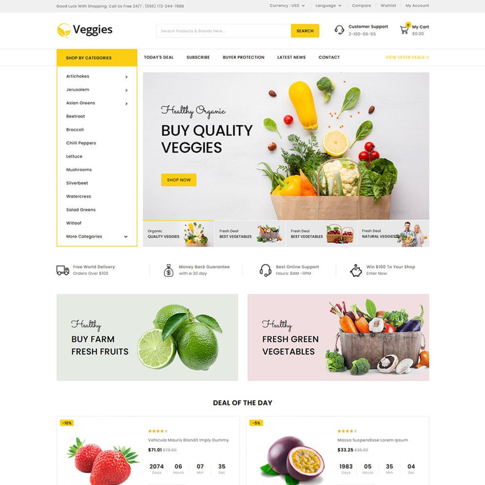 theme - Gastronomía y Restauración - Veggies - Fresh Market Vegetable & Fruits Store - 2