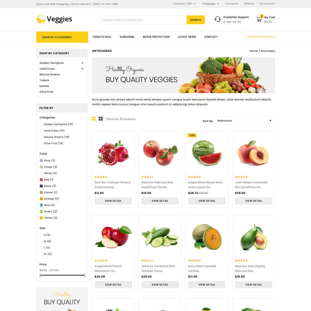 theme - Gastronomía y Restauración - Veggies - Fresh Market Vegetable & Fruits Store - 3