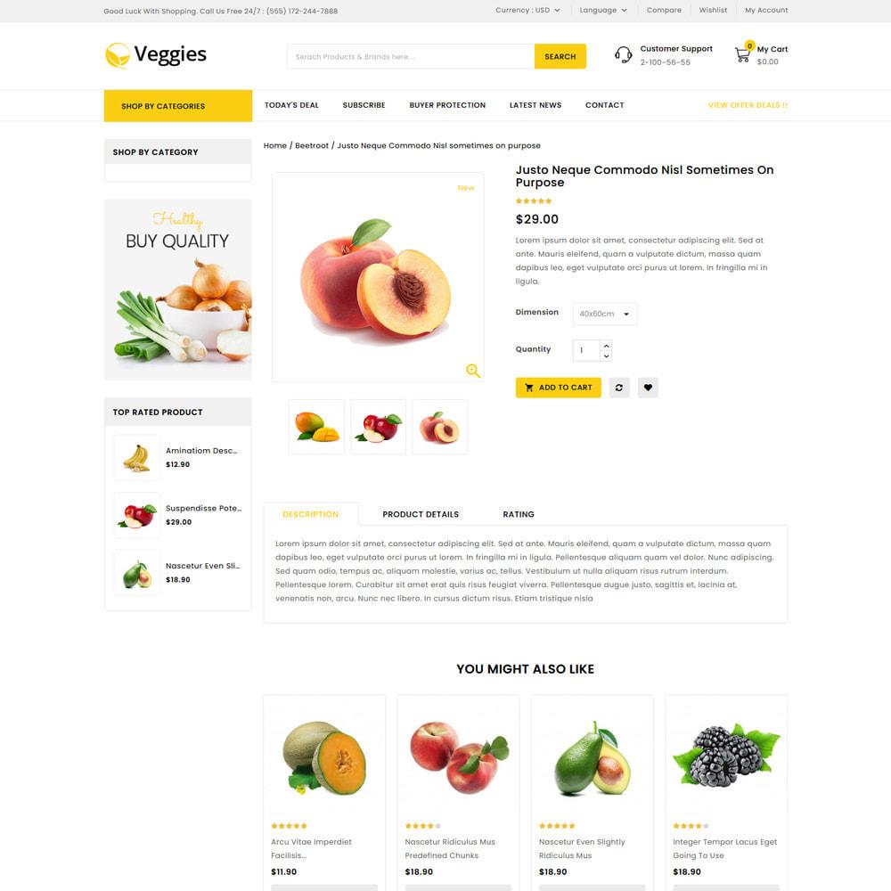theme - Gastronomía y Restauración - Veggies - Fresh Market Vegetable & Fruits Store - 4