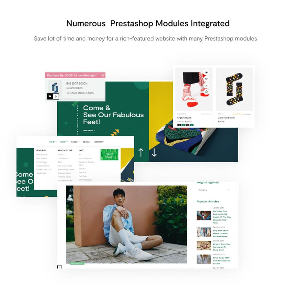 theme - Mode & Schuhe - Leo Funisox - Socks And Fashion - 8