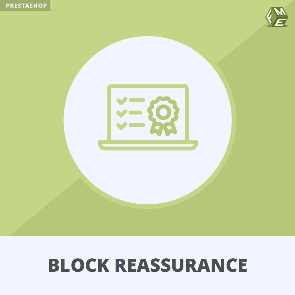 module - Producten op de homepagina - Block Reassurance with Animation - 1