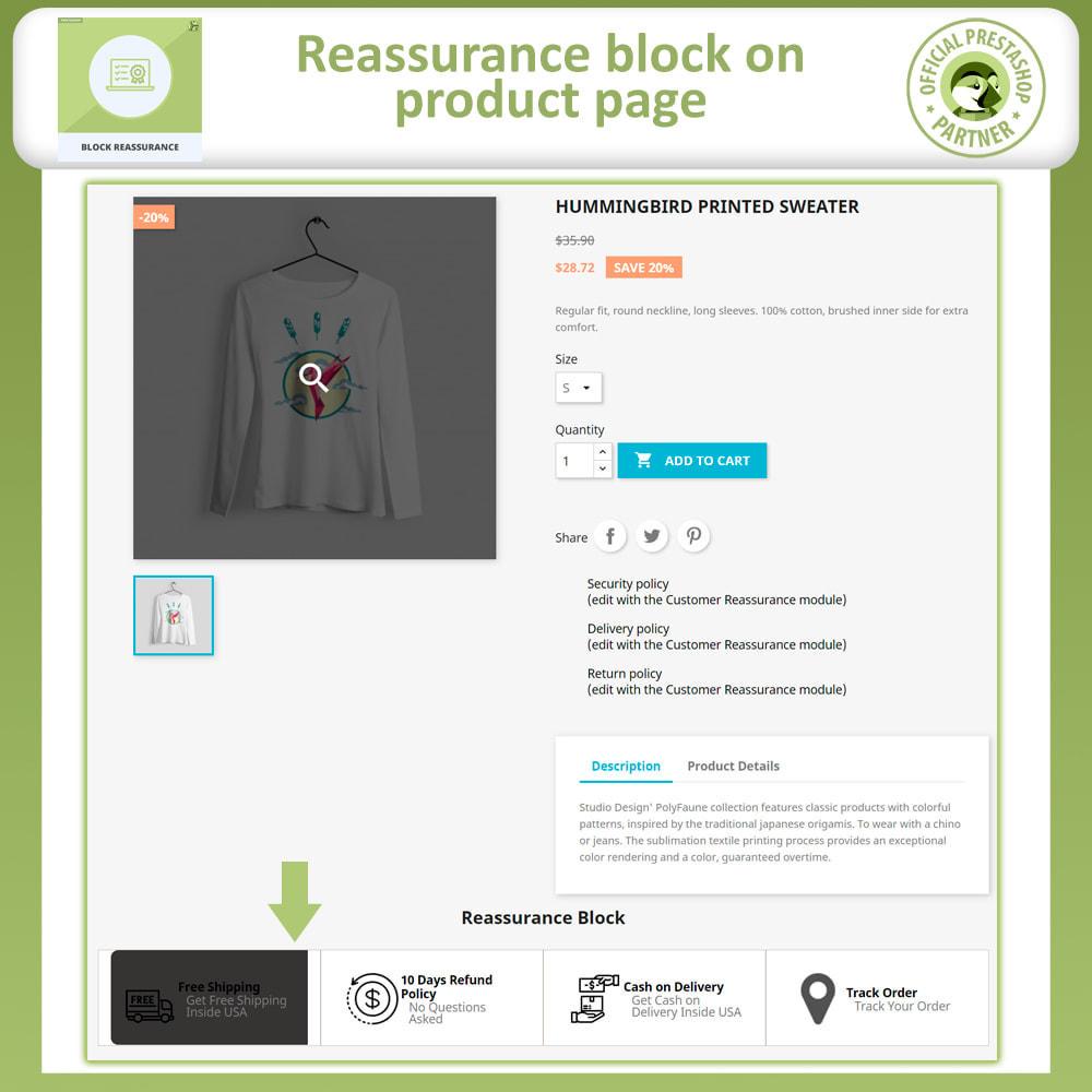 module - Producten op de homepagina - Block Reassurance with Animation - 2