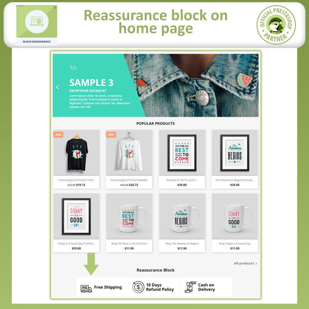 module - Producten op de homepagina - Block Reassurance with Animation - 3