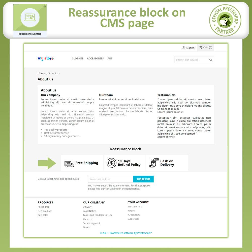 module - Producten op de homepagina - Block Reassurance with Animation - 4