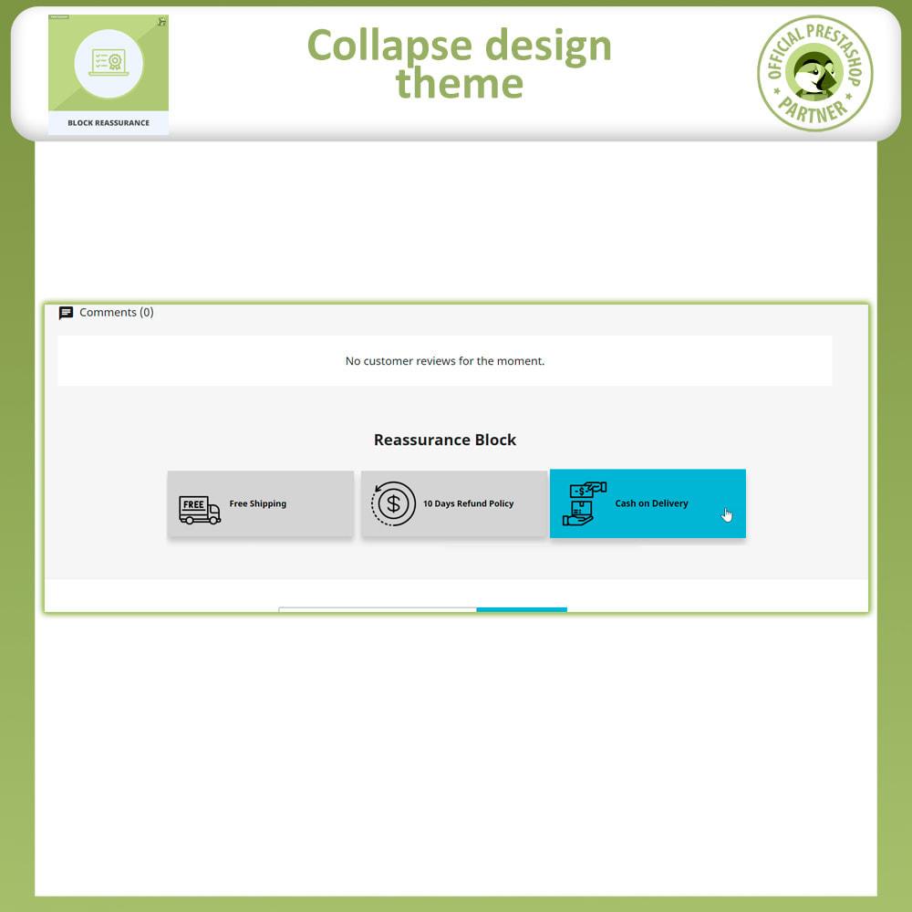module - Producten op de homepagina - Block Reassurance with Animation - 5