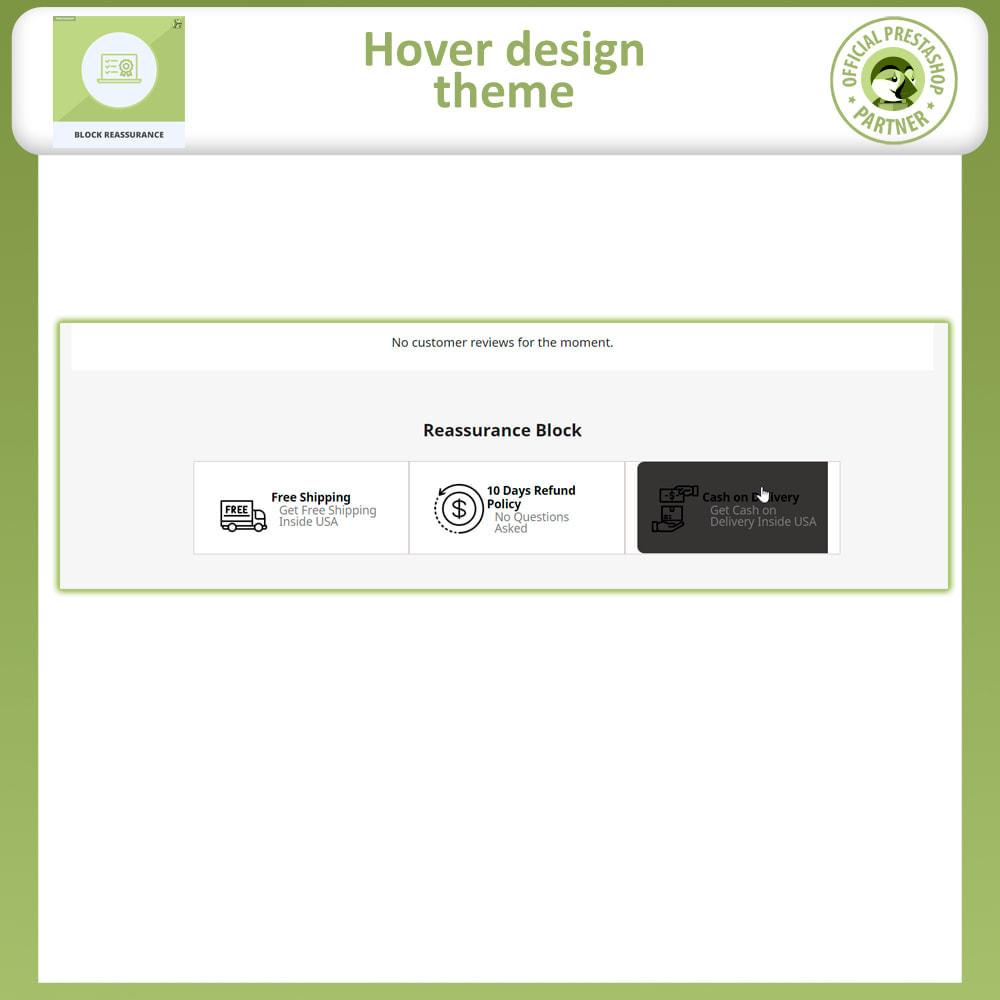 module - Producten op de homepagina - Block Reassurance with Animation - 6