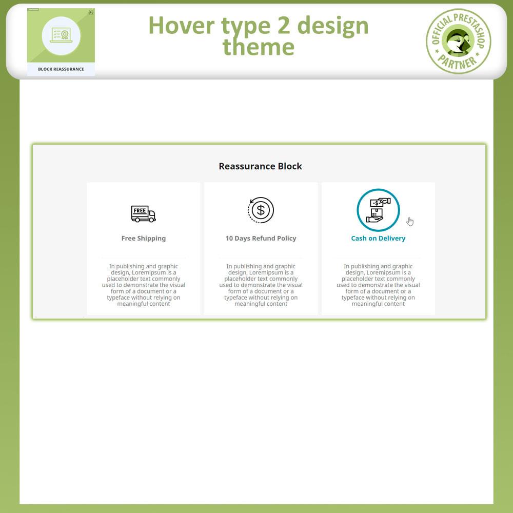 module - Producten op de homepagina - Block Reassurance with Animation - 7